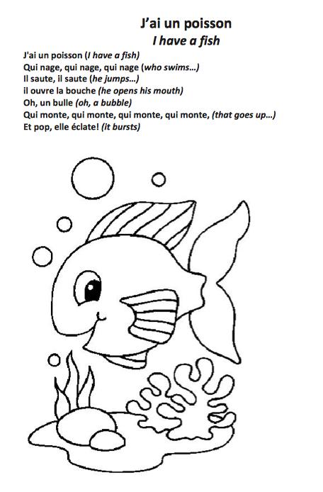 J ai un poisson comptines pour jeunes apprenants de fle - Poisson marrant ...