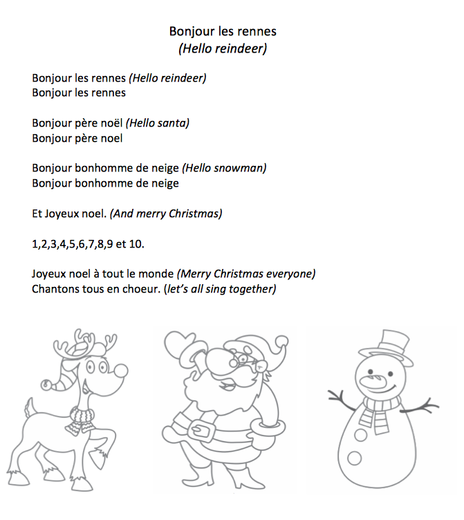 Christmas Canon Lyrics Sheet Music: Comptines Pour Jeunes Apprenants De FLE