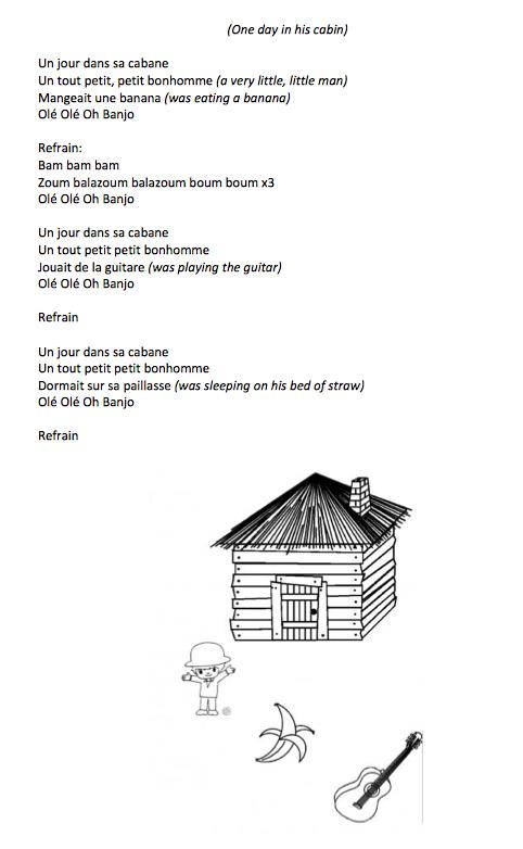 parole chanson un jour dans sa cabane