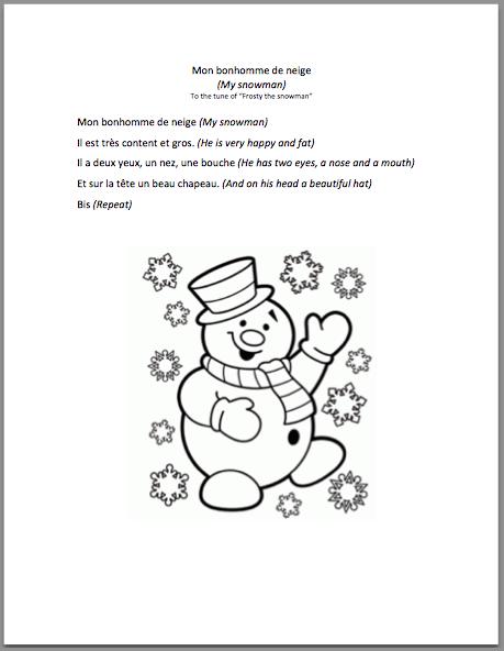 Snowman coloring pictures